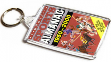Grays Sports Almanac Jumbo Keyring. Inspired by Back to the Future
